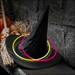 witch's hat ring toss game