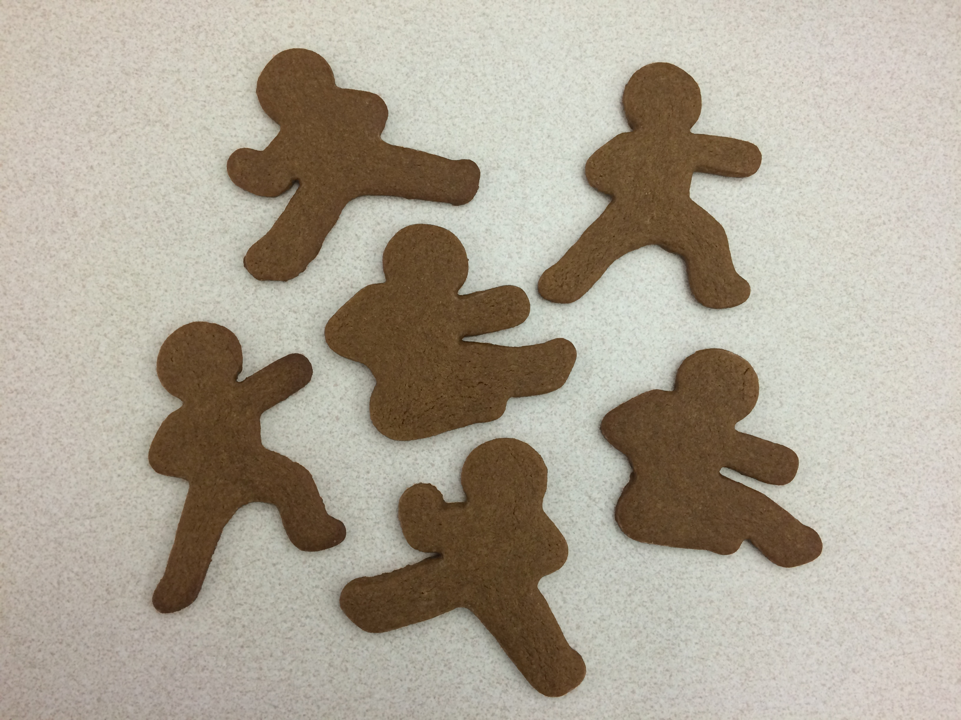 Baked Ninjabread Men Cookies
