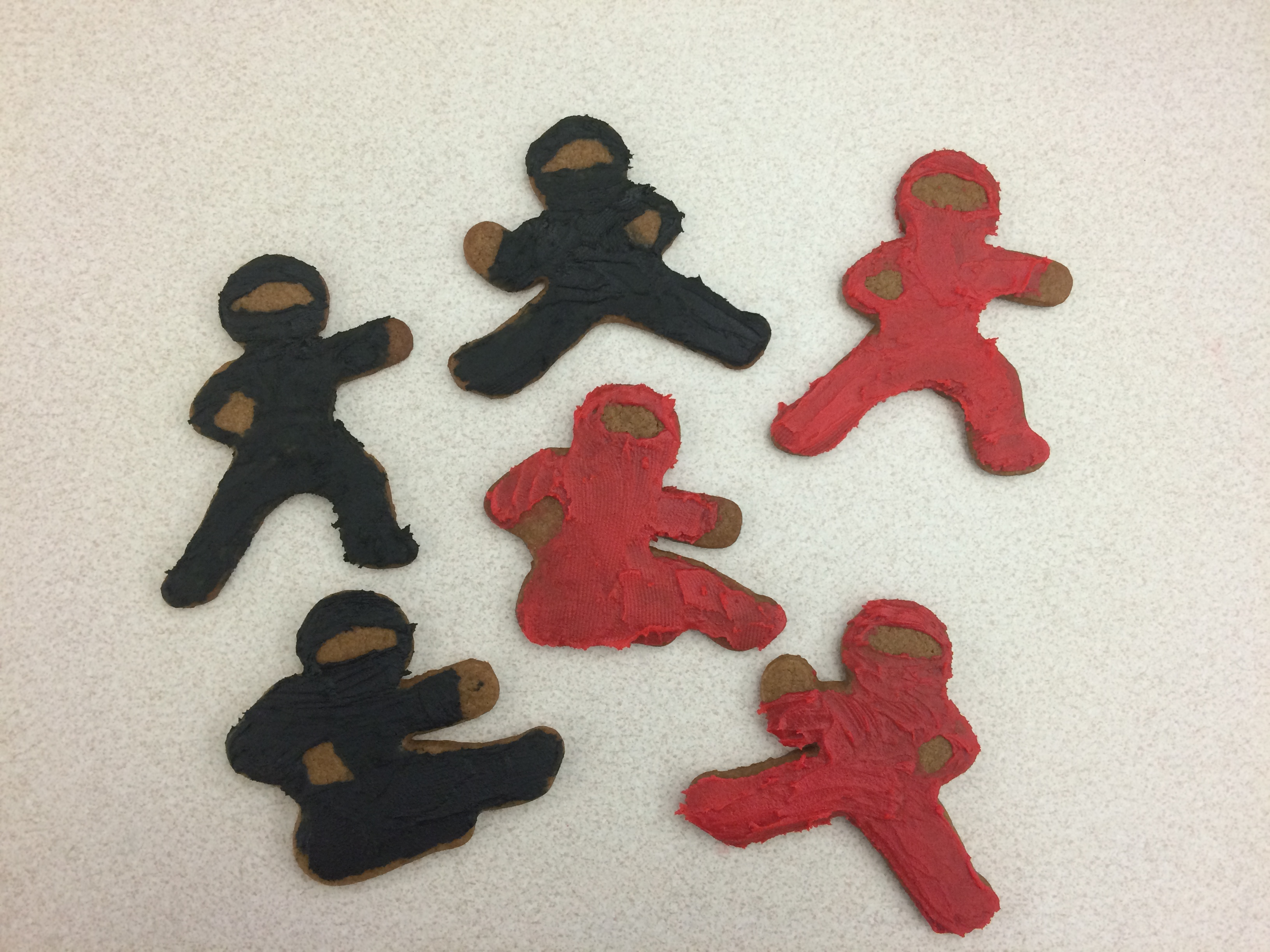 Iced Ninjabread Men Cookies