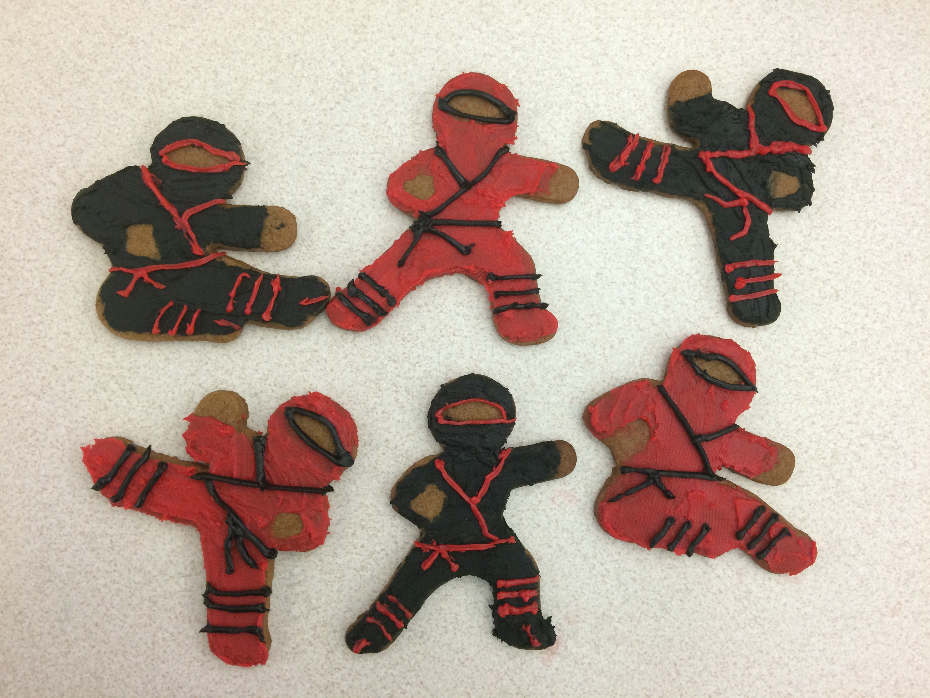 Finished Ninjabread Men Cookies