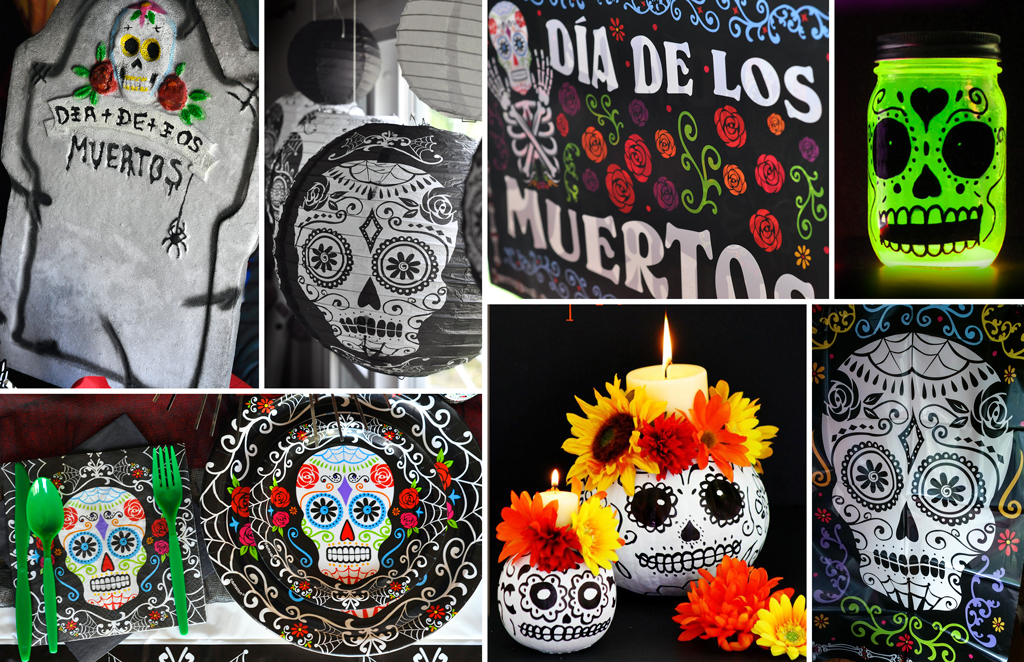 Day Of The Dead Party Party Ideas Activities By : sugar skull decoration ideas - www.pureclipart.com