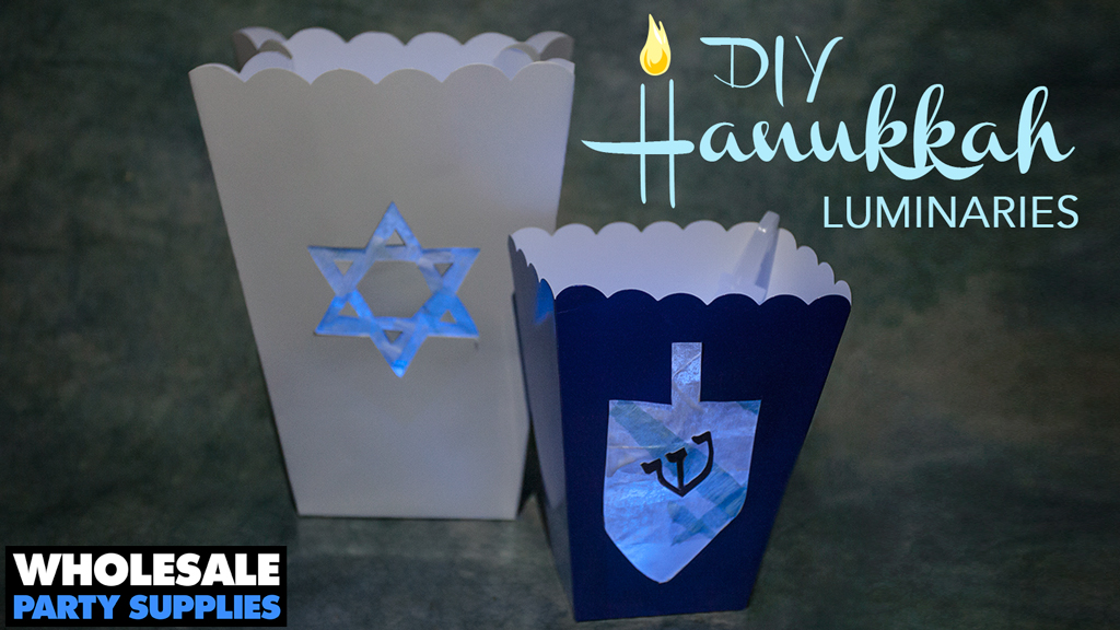 DIY Hanukkah Luminaries