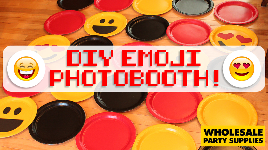 photo booth background ideas for spring - DIY Emoji booth Backdrop