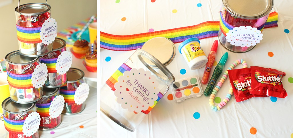 Rainbow Art Paint Cans