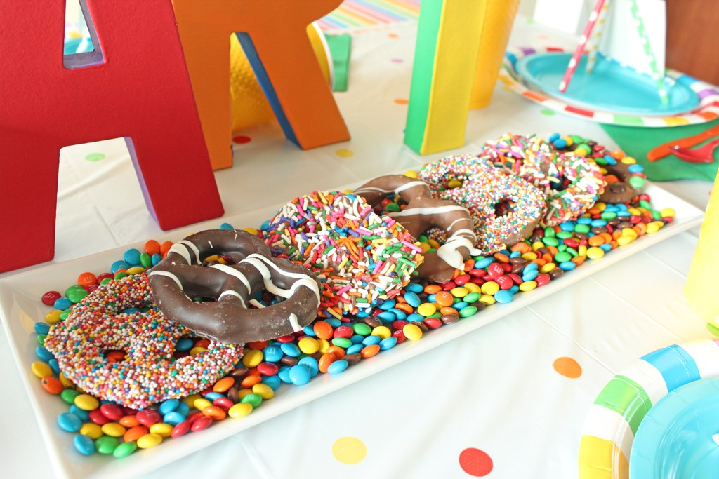 Rainbow Chocolate Covered Pretzels