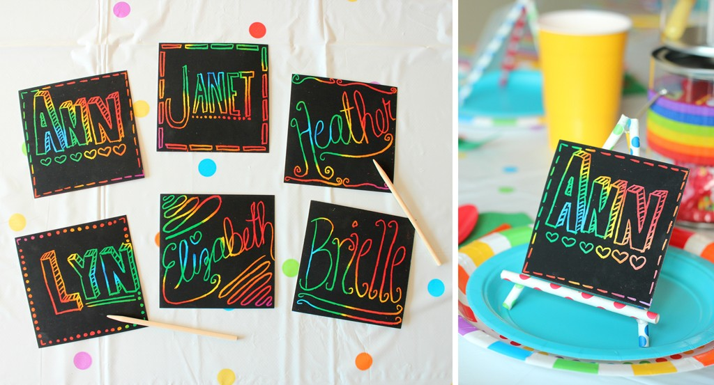 Rainbow Place Cards