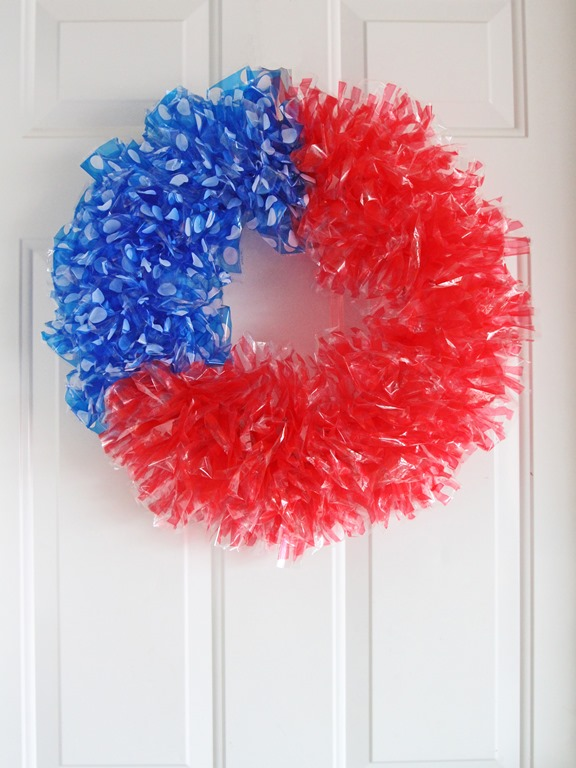 Patriotic Flag Style Wreath