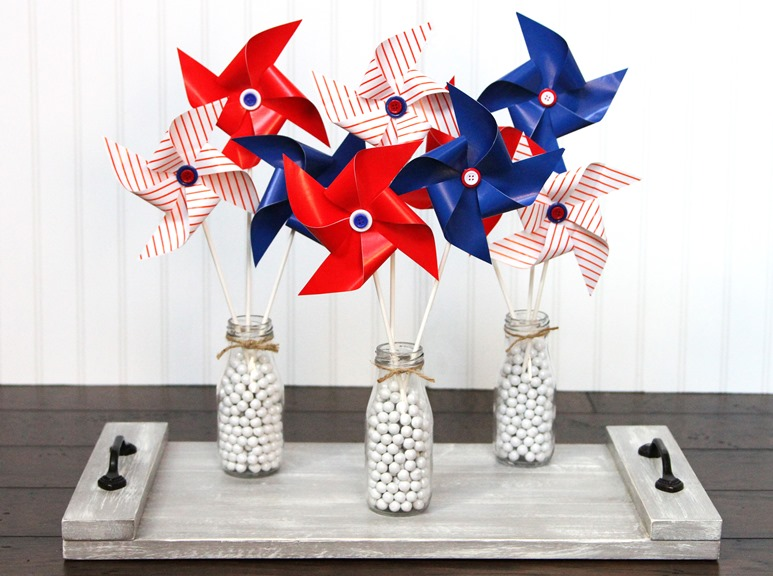 Patriotic Pinwheels Display
