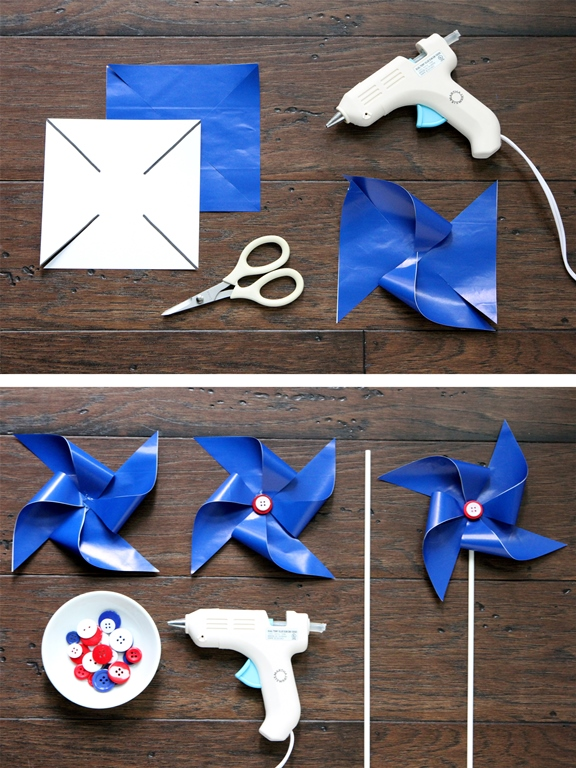 Patriotic Pinwheels Second Step