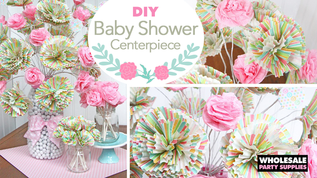 DIY Baby Shower Paper Bouquet Centerpiece