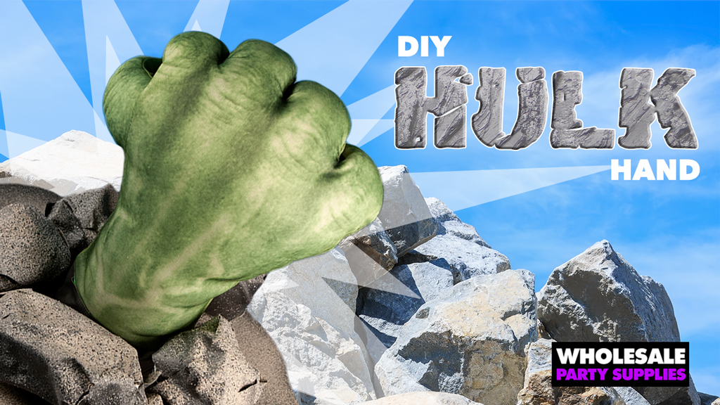 Break Through with this SMASHING DIY Hulk Hand Centerpiece