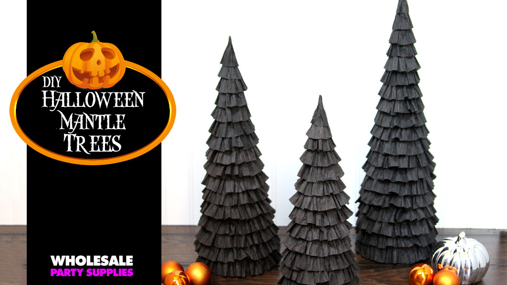 DIY Halloween Mantle Trees Craft