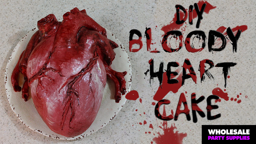 DIY Bloody Human Heart Cake