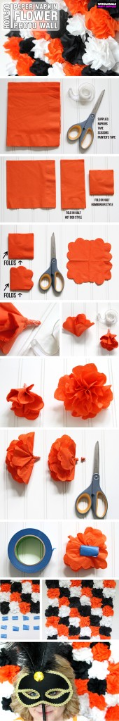 Napkin Flower Photowall Pinterest Guide