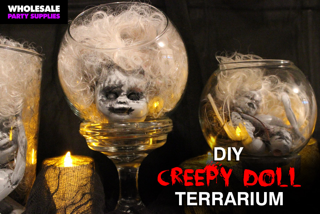 DIY Creepy Doll Terrarium