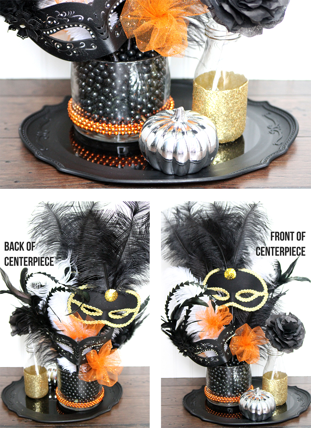 Diy masquerade party centerpiece ideas