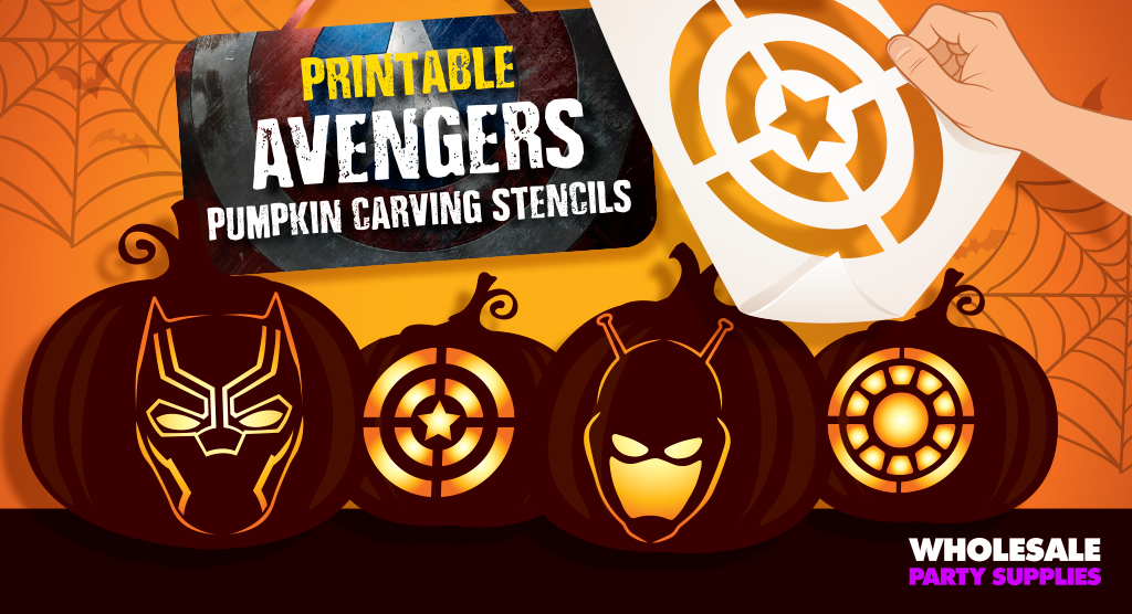 Avengers pumpkin stencils party ideas activities by
