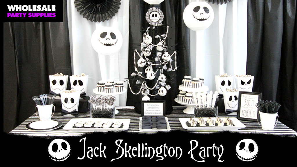 diy tim burton inspired halloween party party ideas activities by wholesale party supplies - Nightmare Before Christmas Birthday Decorations