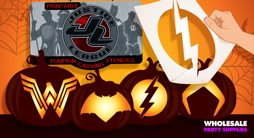 Justice League Pumpkin Carving Stencils
