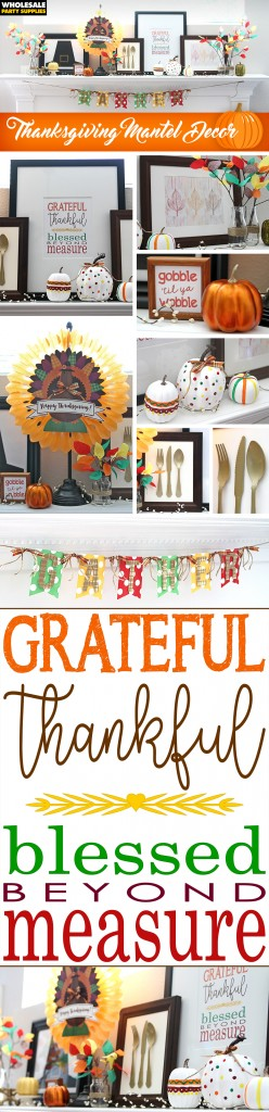 Thanksgiving Day Mantel Decoration Ideas