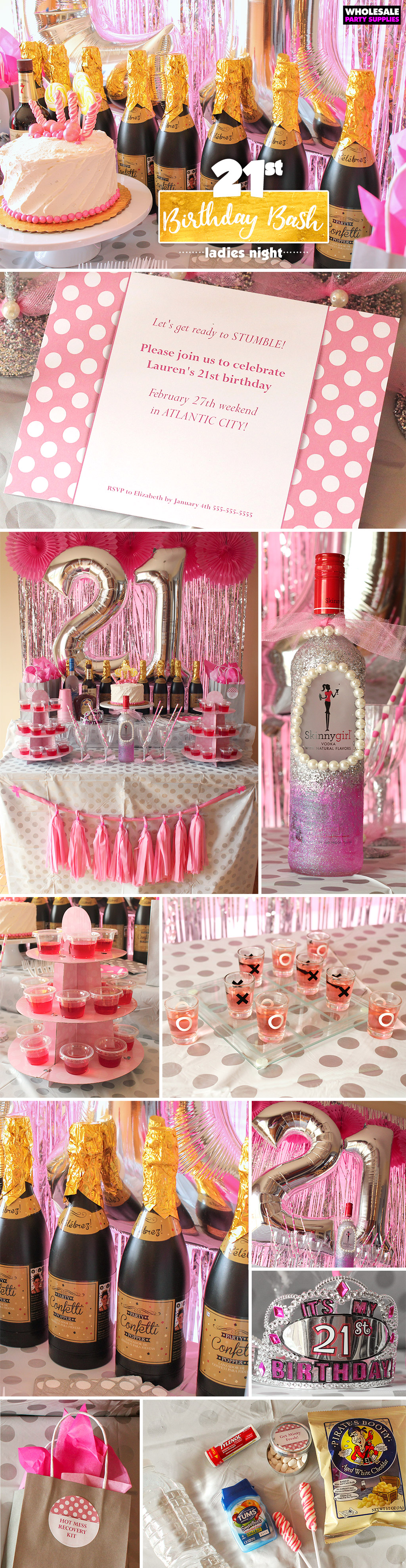 21st Birthday Bash | Party Ideas & Activities by Wholesale Party ...