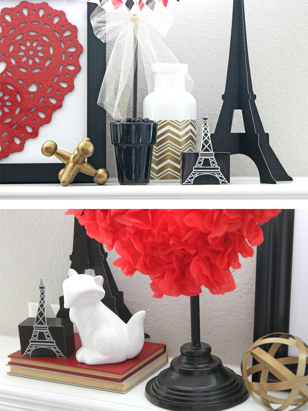 Valentine's Day Mantel Accents