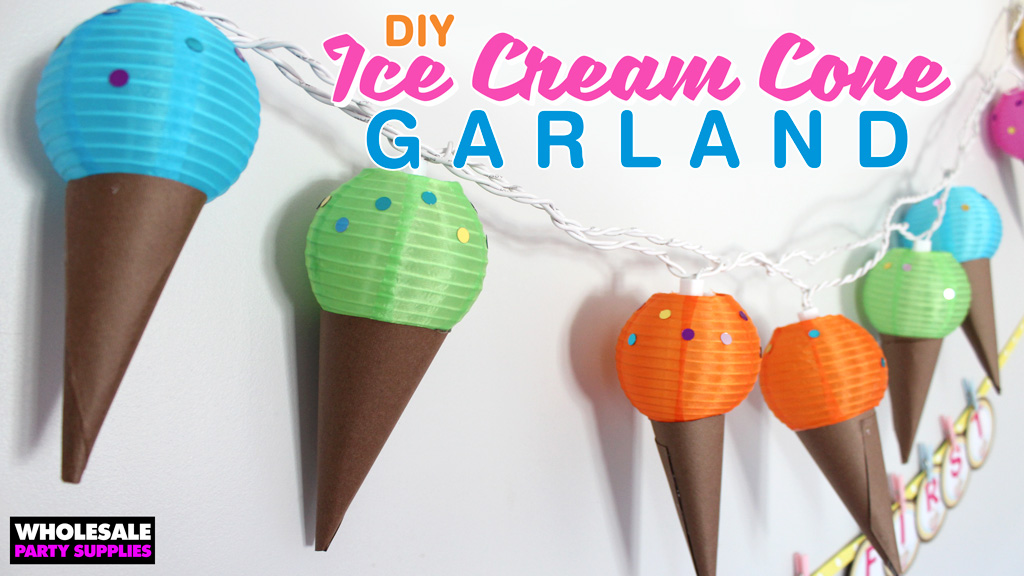 DIY Ice Cream Cone and Letter Garland