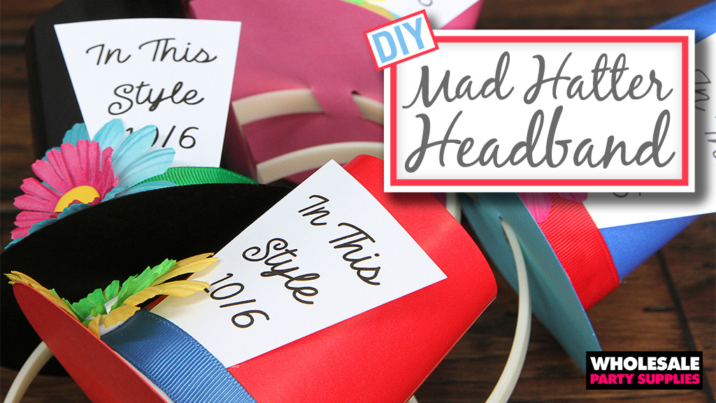 DIY Mad Hatter Headband - Alice in Wonderland