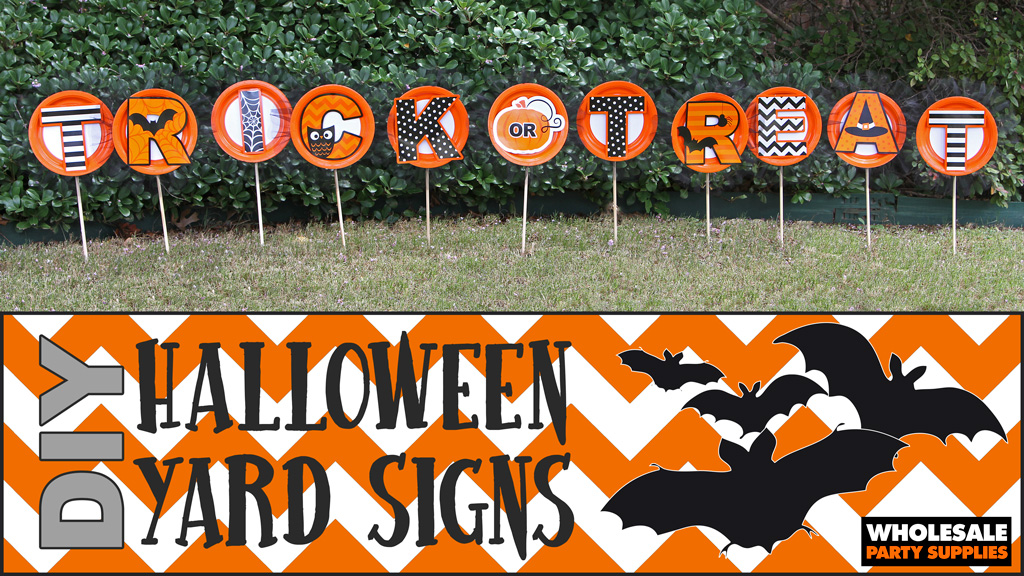DIY Trick or Treat Yard Signs