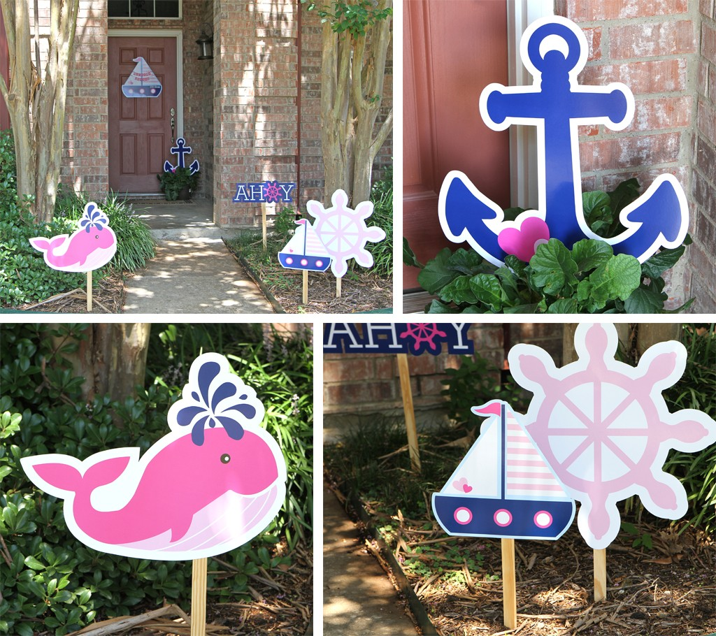 Nautical Pink Baby Shower Ideas
