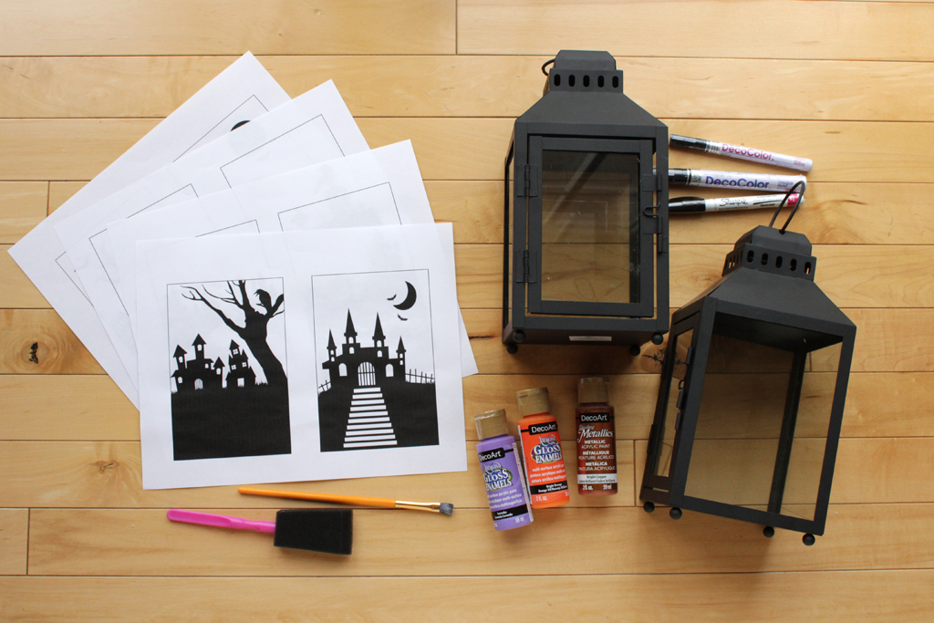 DIY Halloween Lantern Supplies