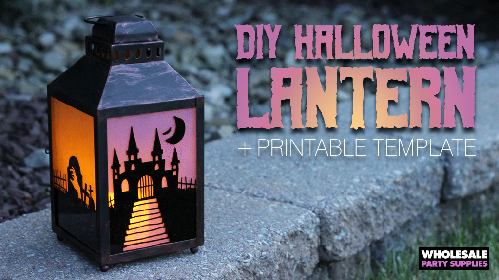 DIY Halloween Lantern with FREE Printable Template