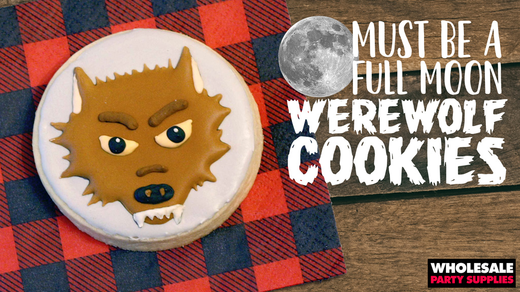 Werewolf Iced Sugar Cookies