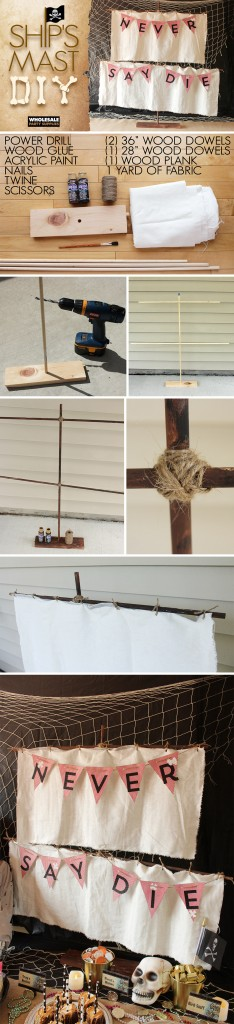DIY Pirate Mast Pinterest Guide