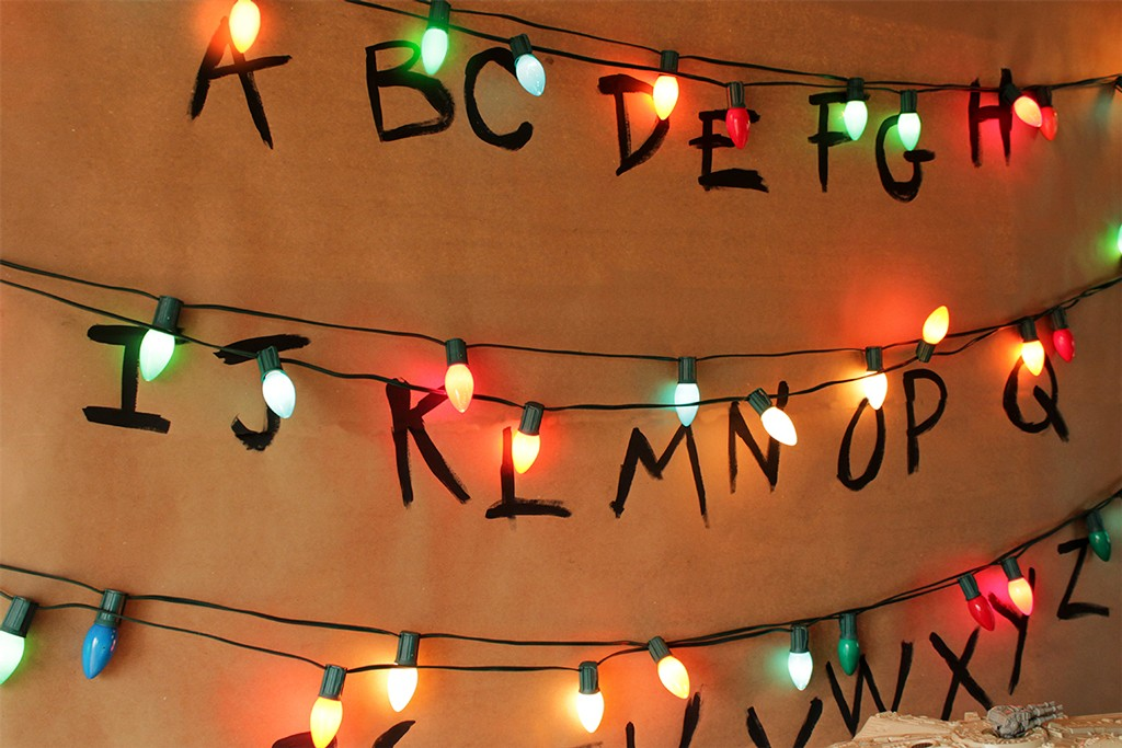 Stranger Things Alphabet Wall Party Backdrop