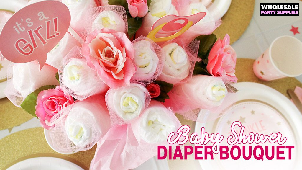DIY Diaper Bouquet Baby Shower Gift | Party Ideas & Activities by ...