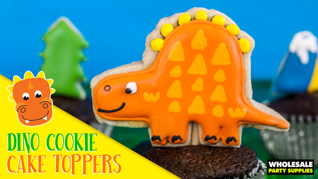 Dinosaur Cookie Cake Toppers