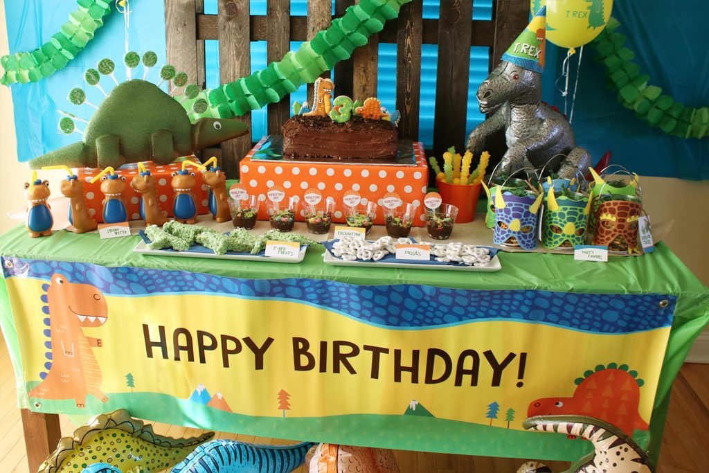 Dinosaur Birthday Party Food Table