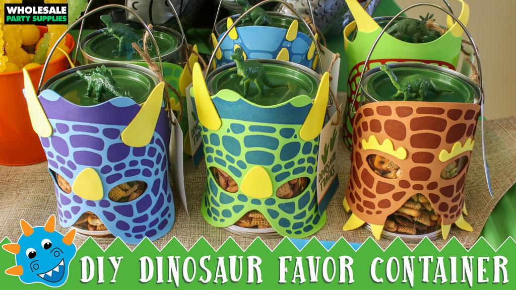 DIY Dinosaur Party Favor Container