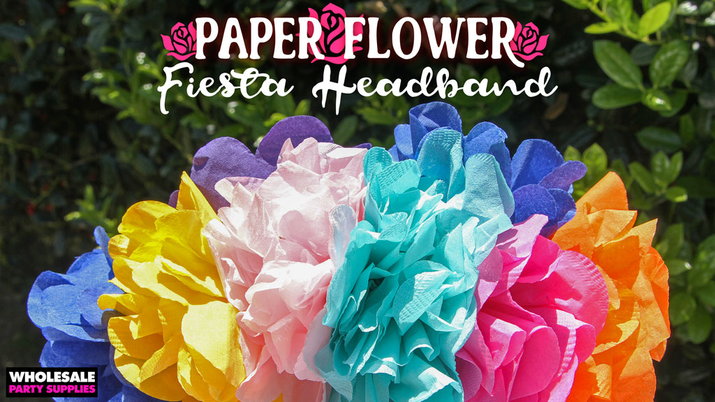 DIY Fiesta Flower Headband
