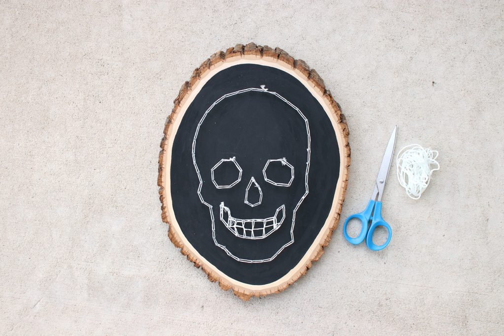 DIY Glowing Skull String Art