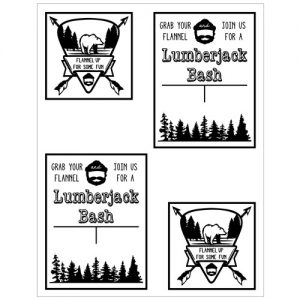Printable Lumberjack Party Invite