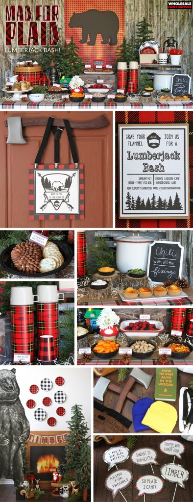 Lumberjack Plaid Party Ideas