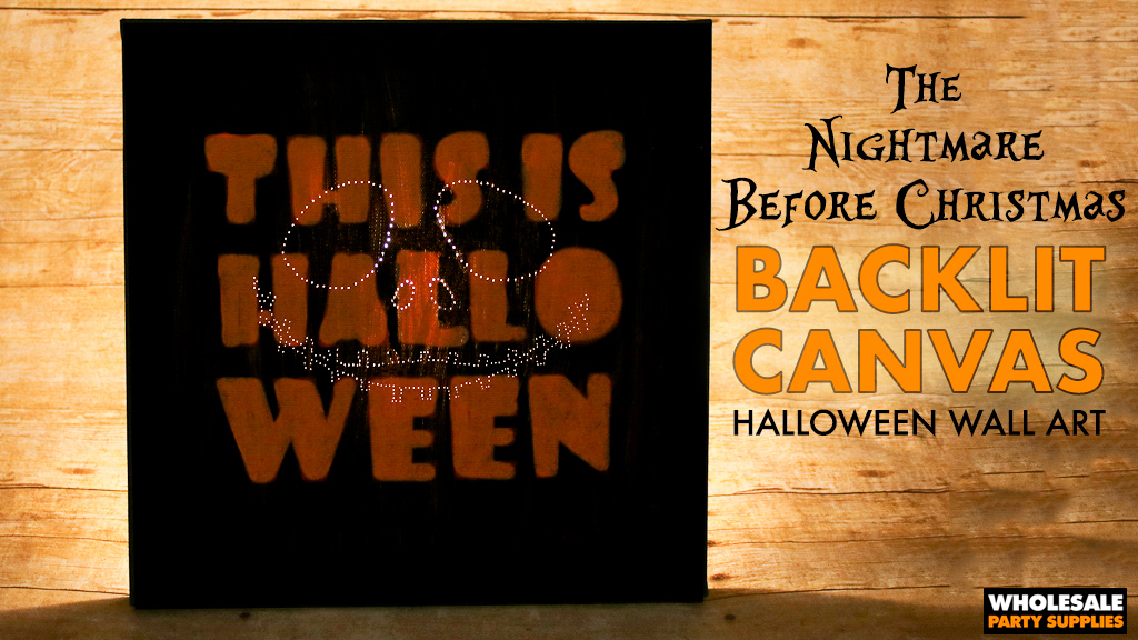 DIY Nightmare Before Christmas Backlit Canvas Tutorial