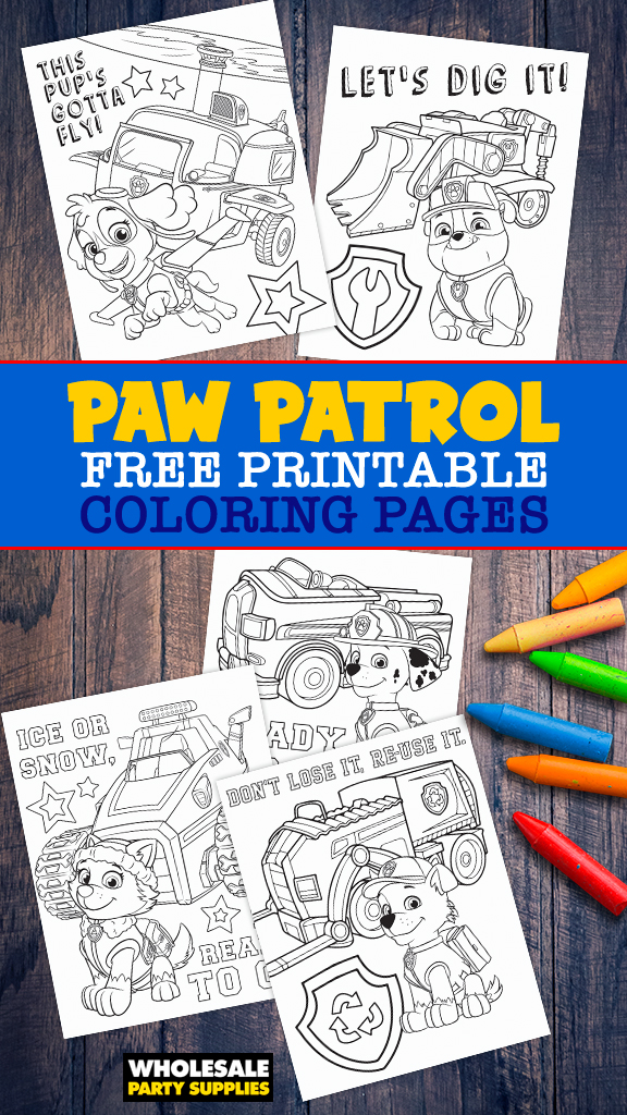 Free Paw Patrol Coloring Pages Party Ideas Activities By