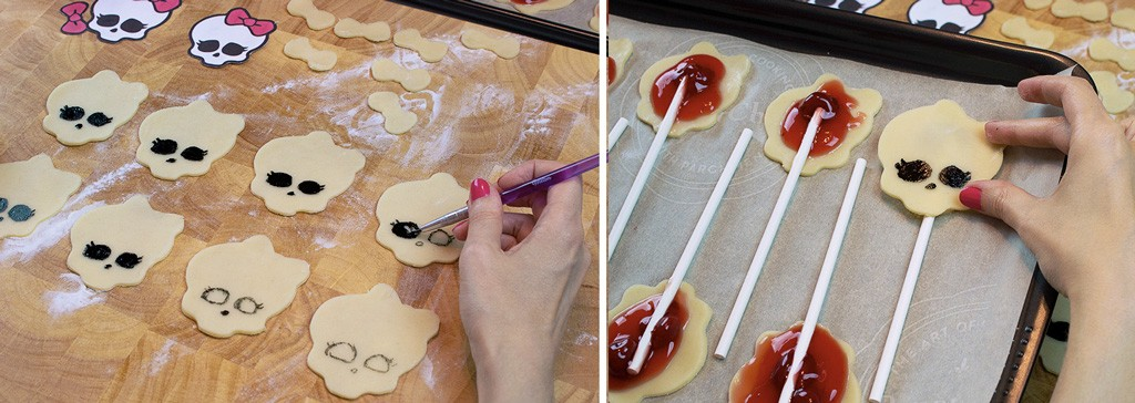 Monster High Pie Pops Recipe & Tutorial Step 3