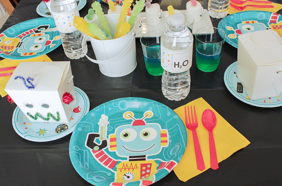 Robot Science Party Tableware