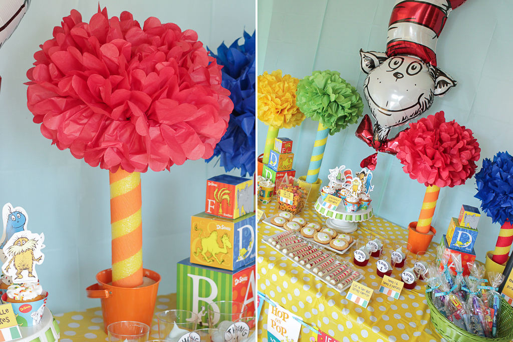 DIY Truffula Tree Party Decorations