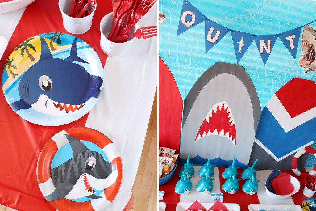 Shark Birthday Party Table Details