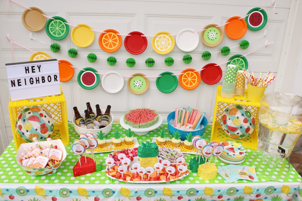 Summer Fruit Party Decorations